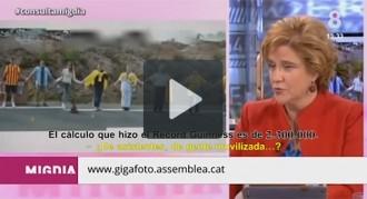 De 500.000 a 2.300.000 milions, el vídeo de la «inflació» de la Via Catalana