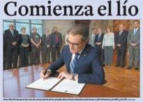 La portada del Diari de Tarragona considera la consulta un «embolic»