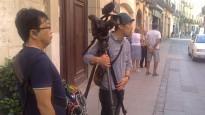 La televisió del Japó grava un documental de les colles de Valls al Concurs