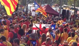 Un extremista, a la Via Catalana