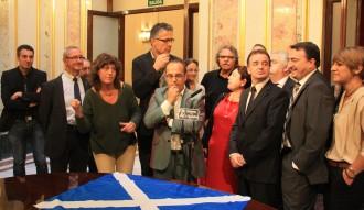 La bandera escocesa entra al Congrés dels Diputats