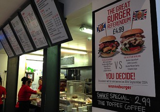 Vés a: Salmond ja guanya «el gran referèndum de l'hamburguesa»