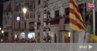 El 3 de 9 amb folre dels Xiquets de Reus, en vídeo
