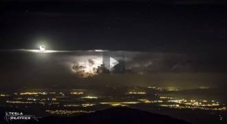 Impressionant time-lapse d'una tempesta des del Montseny