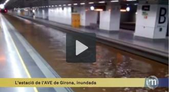 La pluja afecta la línia de l'AVE entre Barcelona i Girona