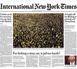 Vés a: The New York Times situa Catalunya a la portada