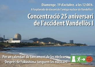 Vés a: 19-O: concentració pel 25è aniversari de l'accident nuclear de Vandellòs I