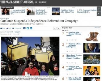 Vés a: The Wall Street Journal es fa ressò de la protesta de les JERC al Congrés