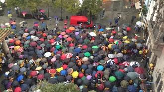 Unes cinc-centes persones clamen a Granollers contra la sentència del TC
