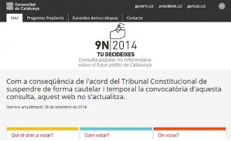 La web oficial de la consulta deixa d'actualitzar-se