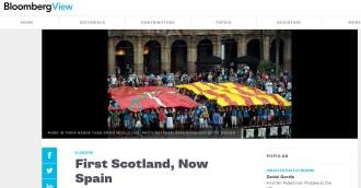 Bloomberg recomana a Rajoy que rectifiqui i obri el camí a la consulta