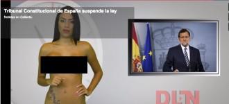 Vés a: Una presentadora de TV venezolana informa de la consulta completament nua