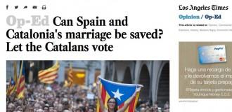 L. A. Times: «Com salvar el matrimoni? Deixeu votar els catalans»