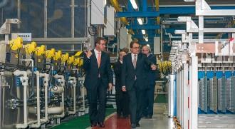 Artur Mas inaugura les noves instal·lacions d'Axilone a Sant Pere de Torelló