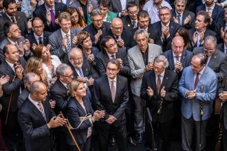 Els alcaldes del Ripollès, al gran acte municipalista de suport a la consulta