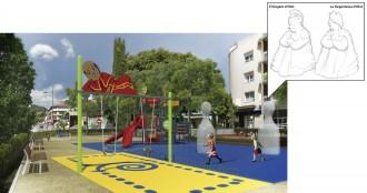 El Lligamosques, protagonista d'un nou parc infantil a Olot