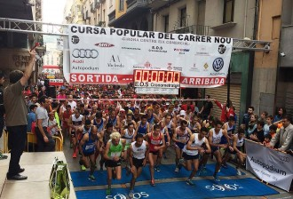 Més de 2.000 corredors participen de la cursa solidària del carrer Nou