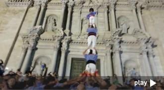 Dissabte, un dels pilars caminant més espectaculars del fet casteller