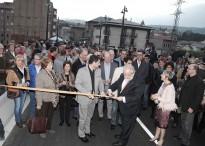 Sant Quirze de Besora inaugura el nou pont a bombo i plateret