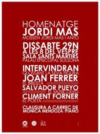Amics de Mn. Huguet i Òmnium Solsonès, organitzen un Homenatge a Mn. Jordi Mas i Antó