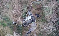 Dos joves de Berga queden ferits en estimbar-se amb el cotxe