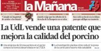 'La UdL ven una patent que millora la qualitat del porcí' avui a La Mañana