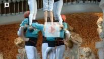 Els Castellers de Vilafranca graven un anunci nadalenc amb l'Orfeó Català al Palau de la Música