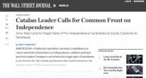 «El pla de Mas per a la independència», a la premsa internacional