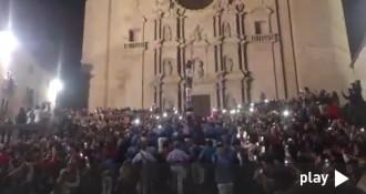 L'espectacular pilar caminant dels Marrecs a la Catedral de Girona