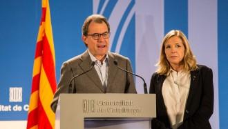 El TSJC admet a tràmit la denúncia contra Mas, Rigau i Ortega pel 9-N