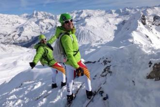 La selecció catalana d'esquí de muntanya guanya metres a Tignes