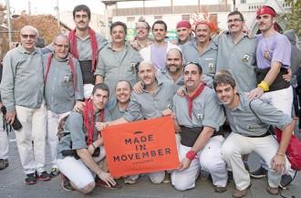 Els Castellers de Sants dediquen un pilar a Movember
