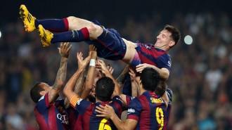 Vés a: Messi agraeix el seu rècord «a tots els que m'han ajudat aquests anys»