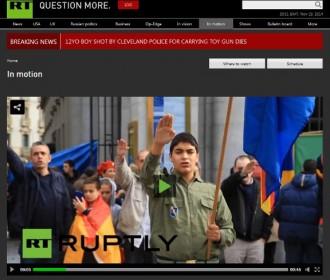 Vés a: La russa RT, sorpresa per la simbologia feixista i nazi a Madrid pel 20-N