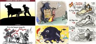 L'escarni dels ninotaires de la premsa internacional sobre Espanya