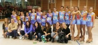 Sira Capdevila, Sheila Lara i Iris Capdevila a la Copa Catalana 2014