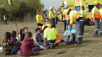 Vés a: L'Aeroport de Reus realitza un simulacre d'un accident amb morts