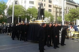 La Congregació de la Bona Mort de Manresa s'estrena a la Fira de Sant Andreu