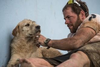 Un gos es converteix en l'amic inseparable d'uns esportistes després de seguir-los més de 600 km