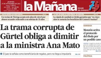 'La trama Gürtel obliga Mato a dimitir' a La Mañana