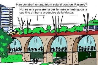La passera aquàrium de Mútua Terrassa