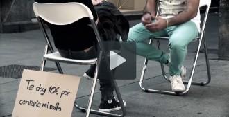 Acceptaries deu euros per escoltar els problemes d'un desconegut?