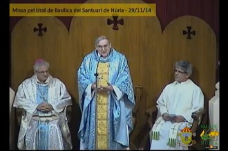 El santuari de Núria celebra avui la seva conversió en basílica