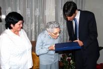 La veïna de Caldes Teresa Ambròs fa cent anys