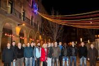 Estudiants de Manlleu elaboren una estelada nadalenca