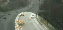 VÍDEO: Brutal atropellament d'un guàrdia civil  en una autovia