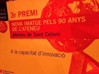 L'Ateneu de Sant Celoni tercer premi en Capacitat de d'Innovació