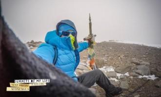 Kilian Jornet «tasta» el cim de l'Aconcagua