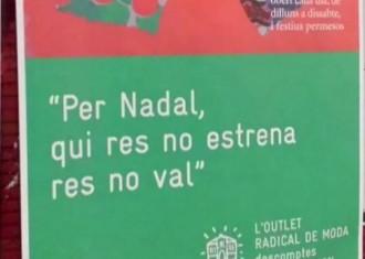 La Paeria de Lleida, contra l'eslògan de Nadal del Mercat del Pla