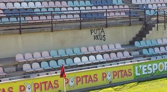 Apareixen pintades de «Puta Reus» a l'Estadi Municipal